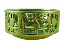 Zsolnay Eosin Iridescent Openwork Figural Dish
