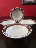 Set of 4 Yamaka Contemporary Chateau Stoneware SIENNA BROWN Soup / Cereal Bowls
