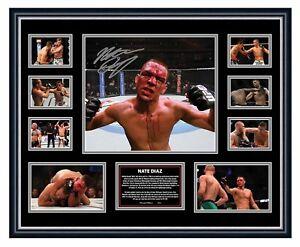 NATE DIAZ UFC SIGNED PHOTO LIMITED EDITION FRAMED MEMORABILIA