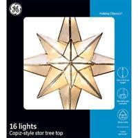 GE Classic Vintage Clear Capiz Bethlehem Star Christmas Tree Topper *Brand New*