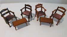 dolls house miniature furniture lundby chairs tables bundle VINTAGE 16TH SCALE