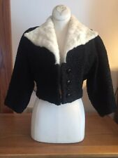 Fredrica Lamb Fur Jacket With Rabbit Collar