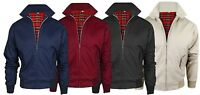Mens Harrington Jacket Classic Retro Slim Fit Zipper Vintage Bomber MA1 Coat TOP