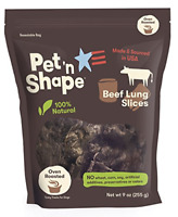 Pet 'n Shape Beef Lung Dog Treats – Made and Sourced in The USA - All Natural 9
