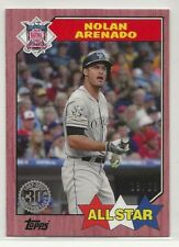 Nolan Arenado 2017 Topps Mini 1987 Red /25 #87-159 Rockies Online Exclusive