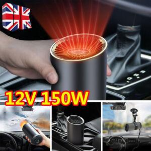 12V 150W Portable Car Windshield Heater Heating Cooling Fan Anti-fog Defroster