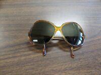 American Optical Women's or Unisex Round oval Shape Tortoise Sunglasses 1970's