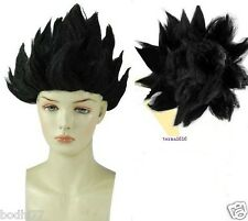 Black Cosplay Costume Wig Dragon Ball Z Goku Japan Anime Wig+Gift Cap Hairnet