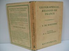 Book, Geographical Regions of France by E. De Martonne