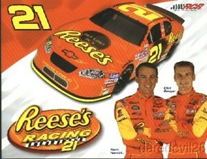 2004 Kevin Harvick/Clint Bowyer Reese's Chevy Monte Carlo NASCAR Busch postcard
