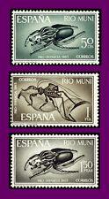RIO MUNI 1965 63/65 PRO INFANCIA INSECTOS 3v.