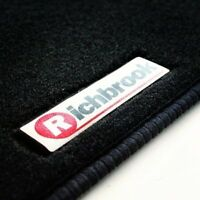 Genuine Richbrook Car Mats for Fiat Barchetta LHD 94-99 - Black Ribb Trim