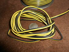 2 - WIRE 22-GAUGE BLACK & YELLOW FLAT CABLE FOR LIONEL, MTH, A.F. MARX + +  10'