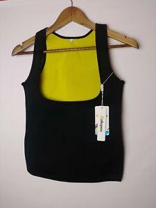 Bolkopess Women's Size Medium Vest for Hot Sweat body shaper Black/Yellow New