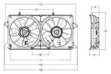 14-18 CHEVY silverado 14-18 GMC sierra cooling fan assembly
