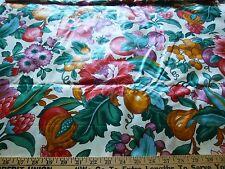 "Stanley King Studio-Vintage cotton chintz fabric- floral/ fruit print1 yd 18x56"""