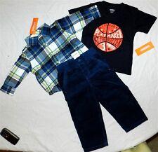 Gymboree Blues Pant Set 5pc Flannel Plaid Shirt Boys sz 12/18 mo New