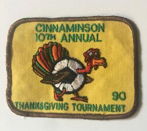 Cinnaminson, NJ 10th Annual 1990 Thanksgiving Tournament Soccer Turkey Patch