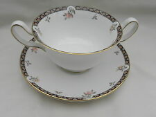 Wedgwood ISIS TWIN HANDLE SOUP COUPE CUP BOWL 11.5 x 6.5 & SAUCER, Excellent.