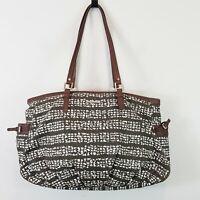 [ SPORTSCRAFT ] Womens Print Tote Bag / Handbag w/ Leather Trim