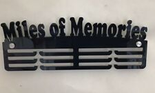 Thick 5mm Acrylic 3 Tier MILES OF MEMORIES Medal Hanger / Holder / Rack