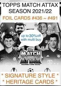 2021/22 TOPPS MATCH ATTAX ~ SIGNATURE STYLE ~ HERITAGE CARDS 30% off multi buy