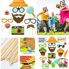 20PCS Dinosaur Photo Booth Props Funny Moustache Birthday Party Favor Kit DIY