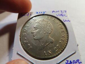 X115 Haiti L'an-27 (1830) 100 Centimes UNC RARE