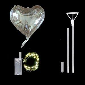 20''Star/Heart/Round Luminous Bobo Led Balloon With Sticks Birthday Party Decor1
