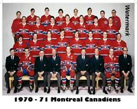 NHL 1970 - 71 Color Team Picture Montreal Canadiens 8 X 10 Photo Picture