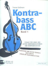 Thomas Großmann Kontrabass ABC Band 1 Schule Noten mit 2 CDs
