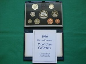 Royal Mint 1996 UK Proof Coin Collection - Blue case including COA