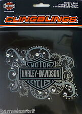 Harley-Davidson Clingblings Bling Window Sticker Decal NEW