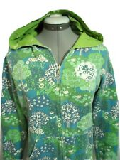 BILLABONG HOODIE Sweatshirt Jr. M REVERSIBLE Blue Green floral print Surf Skate