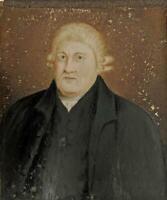 MR JOHN TAYLOR PORTRAIT Miniature Painting 1824 WILLIAM TAYLOR - BIRMINGHAM
