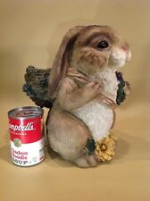"Vintage Large Garden Rabbit 10"" Tall With Planter Or Vase"