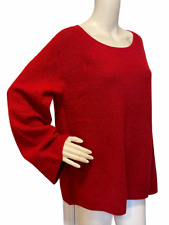 Women's Loft Red Essential Sweater Size X-Large