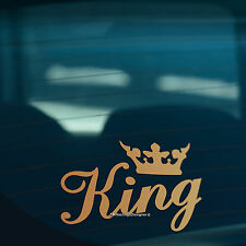 King Corona Oro Divertente Auto, finestra, paraurti o laptop DUB Drift Adesivo decalcomania in vinile