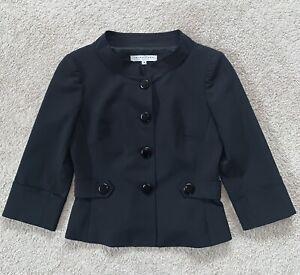 Trina Turk Black 3/4 Sleeve Blazer Jacket Size 4