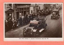 More details for king george v leaving weymouth motor car sun inn 1912 rp 1912 r e holden ah159