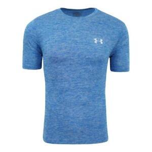 NEW Under Armour Men's UA Space Dye T-Shirt Tee Blue L XXL WORKOUT gym RUNNING