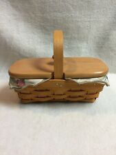 Longaberger (2000) Collectible Horizon of Hope Basket with Wood Handle and Lid