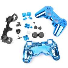Blue Full Housing Shell Case Button Kits for Sony PS3 Wireless Controller