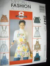 8 Fashion Aprons New McCalls 2947 Easy Pattern Fits All