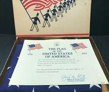 Rare 1977 U.S Capitol Flown American Flag 3x5 w/Box & Paperwork Cub Scouts, MA.