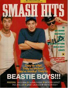 SMASH HITS MAGAZINE BEASTIE BOYS U2 WESTWORLD EUROPE MARCH 1987
