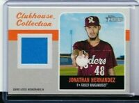 2019 TOPPS HERITAGE MINORS JONATHAN HERNANDEZ ROOKIE JERSEY RANGERS PD