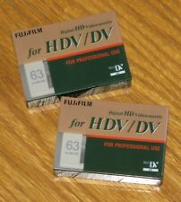 2 New - Fujifilm Mini HDV DV 63 Minute Videocassette Digital Video Cassette Tape