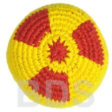 Radioactive Hazard Guatemalan Footbag Red Yellow Cotton Hacky Sack New HS16