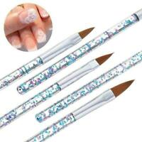 5 teile / satz Sable Kolinsky Acryl Nail art UV Gel Pinsel Glitter Pen Carv N0G6